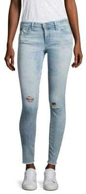 AG Jeans Distressed Super Skinny Ankle Jeans