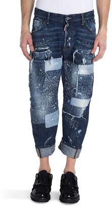 Viktor & Rolf Men's Distressed Patch Jeans