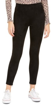 Bar III Faux-Suede Skinny Pants, Created For Macy's
