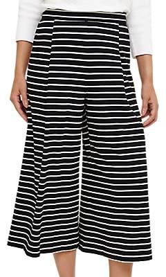 Phase Eight Sansa Stripe Culotte Trousers, Navy