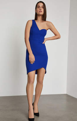 BCBGMAXAZRIA One Shoulder Mini Sheath Dress