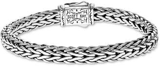 Scott Kay Men Woven Link Bracelet in Sterling Silver & 18k Gold