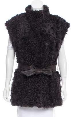 Cassin Sherry Belted Shearling Vest