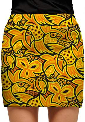 Loudmouth Golf Women's Loudmouth Yellow Abstract Chicken Golf Skort