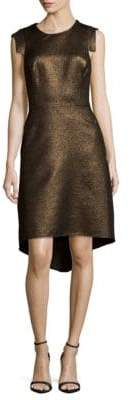 Halston Metallic Hi-Lo Dress