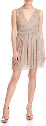 French Connection Marcelle Lurex Fit & Flare Dress