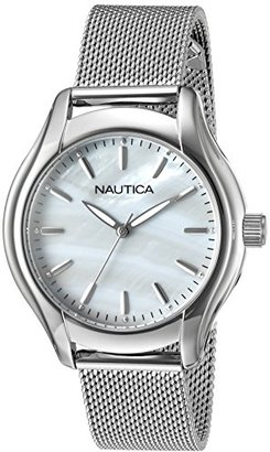 Nautica Women's 'NCT 18 MID' Quartz Stainless Steel Casual Watch, Color:Silver-Toned (Model: NAD11529L) $115 thestylecure.com