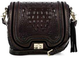 Brahmin Dalton Leather Saddle Bag $345 thestylecure.com
