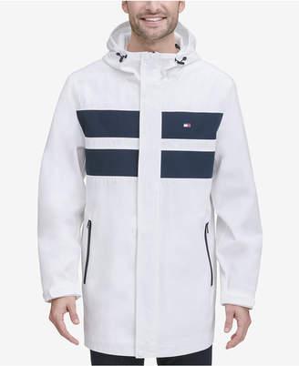 Tommy Hilfiger Men Bonded 3/4th-Length Hooded Rain Jacket