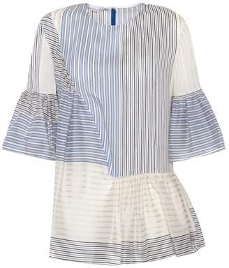 Stella McCartney Cotton and silk printed top