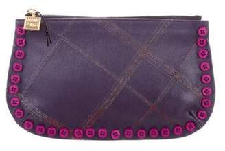 Jamin Puech Button-Embellished Leather Pouch