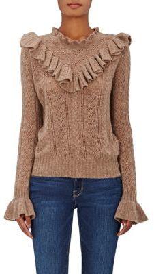 Ulla Johnson Women's Maritza Cashmere Sweater-TAN $460 thestylecure.com