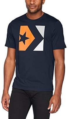 Converse Men's Star Chevron Tri-Color Short Sleeve T-Shirt