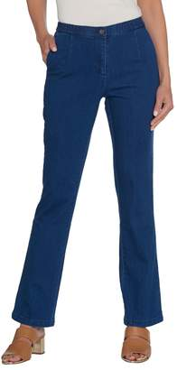 Linea By Louis Dell'olio by Louis Dell'Olio Petite Stretch Denim Boot Leg Pants
