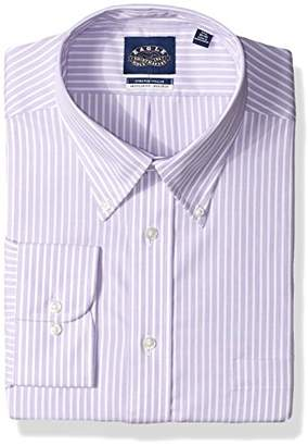 Eagle Men's Dress Shirt Non Iron Stretch Collar Regular Fit Stripe