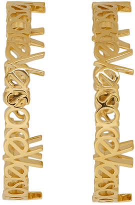 Versace Gold Large Hoop Earrings