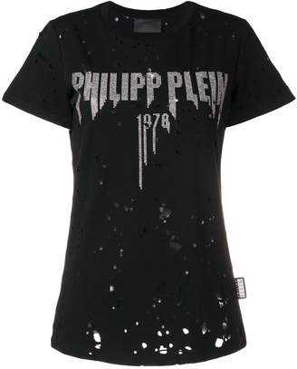 Philipp Plein rhinestone logo T-shirt