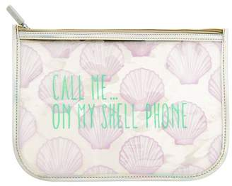 clear MIAMICA 'Call Me On My Shell Phone' Iridescent Pouch