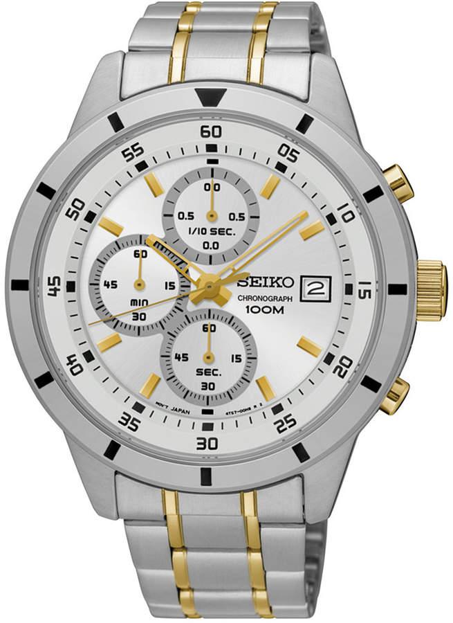 SeikoSeiko Men's Special Value Chronograph Two-Tone Stainless Steel Bracelet Watch 44mm SKS563