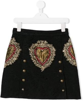 Dolce & Gabbana heart motif skirt