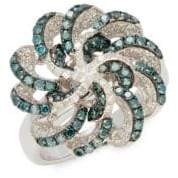 Effy Blue Diamond & White Gold Ring