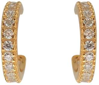 Wild Hearts - Mini Pave Hoops Gold