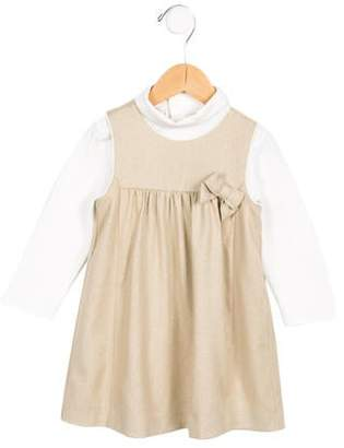 Chloé Girls' Bow-Accented Long Sleeve Dress w/ Tags