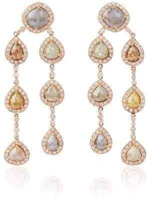 Saqqara Brown diamond chandelier earrings