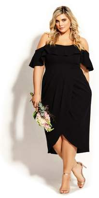 City Chic Flirtation Dress - black
