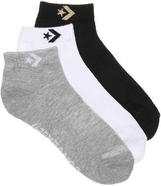 Converse Chevron No Show Socks - 3 Pack - Women's