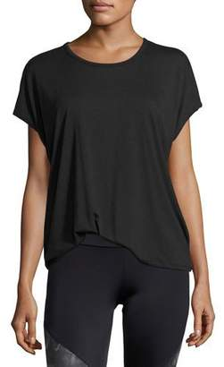 Onzie Drop-Back Jersey Tee, Black