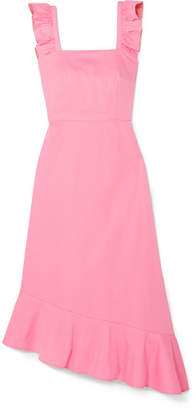 DAY Birger et Mikkelsen STAUD Valentina Ruffled Stretch-cotton Poplin Dress