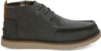 Toms Waterproof Dark Grey Oiled Suede Men's Chukka Boots
