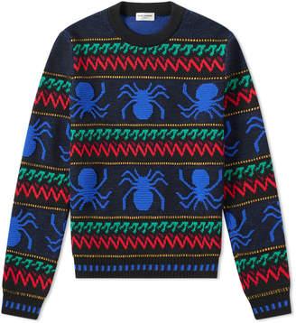Saint Laurent Spider Crew Knit