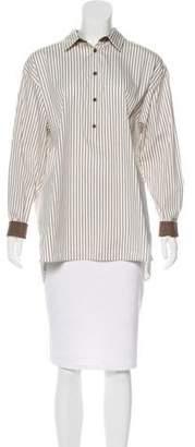 Lafayette 148 Striped Long Sleeve Tunic