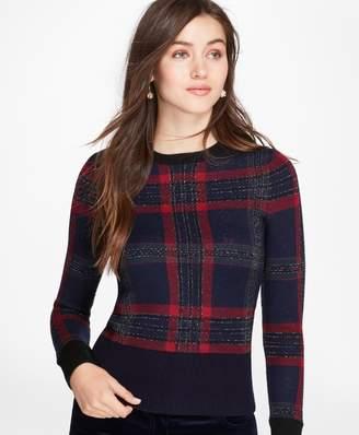 Brooks Brothers Tartan Merino Wool-Blend Sweater