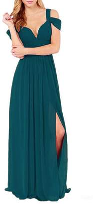 CladiyaDress Women V Neck Long Evening Dress Formal Gowns C213LF US