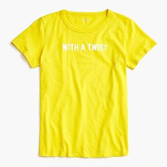 "J.Crew ""With a twist"" T-shirt"
