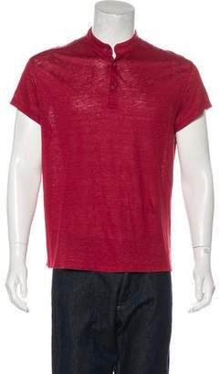 Loro Piana Linen Henley T-Shirt