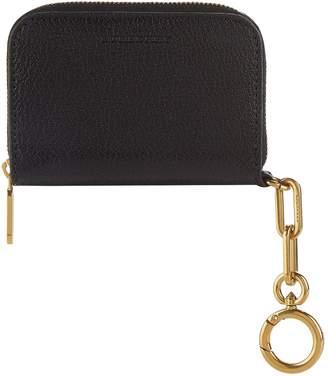 Burberry Leather Link Detail Zip Around Wallet
