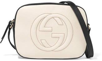 Gucci Soho Disco Textured-leather Shoulder Bag - White
