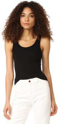 Three Dots Ribbed Tank $58 thestylecure.com