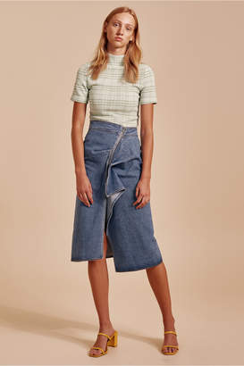 C/Meo Collective OUT OF SIGHT SKIRT blue denim