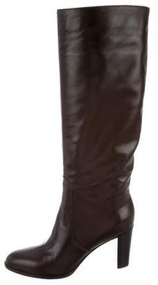 Sergio Rossi Leather Knee-High Boots w/ Tags