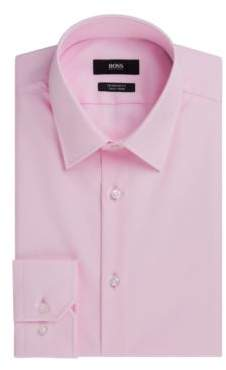 HUGO BOSS Easy Iron Cotton Dress Shirt, Regular Fit Enzo 17 pink