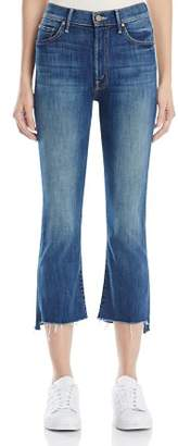 Mother Insider Crop Step Fray Jeans in Not Rough Enough