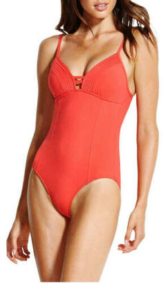 Seafolly NEW Quilted Maillot Red