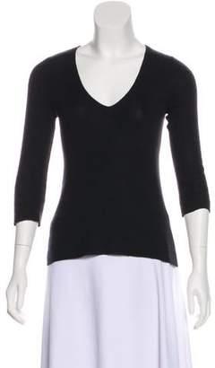 Prada Long Sleeve V-Neck Sweater