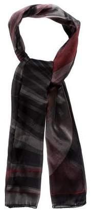 Emilio Pucci Patterned Silk Blend Scarf