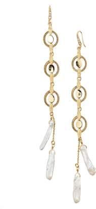 Badgley Mischka Katie Freshwater Pearl Linear Drop Earrings